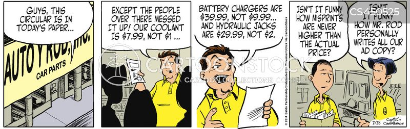 irate customers cartoon