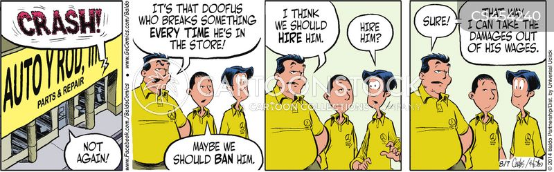 irritating customer cartoon