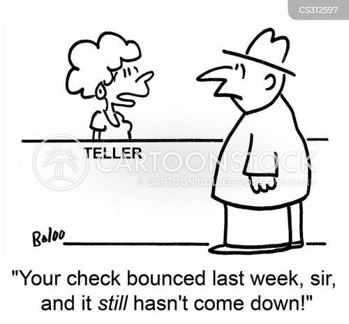 check bounced cartoon