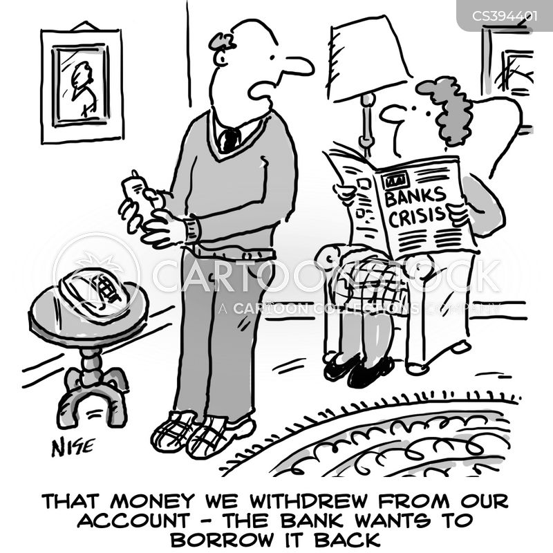 banking crises cartoon