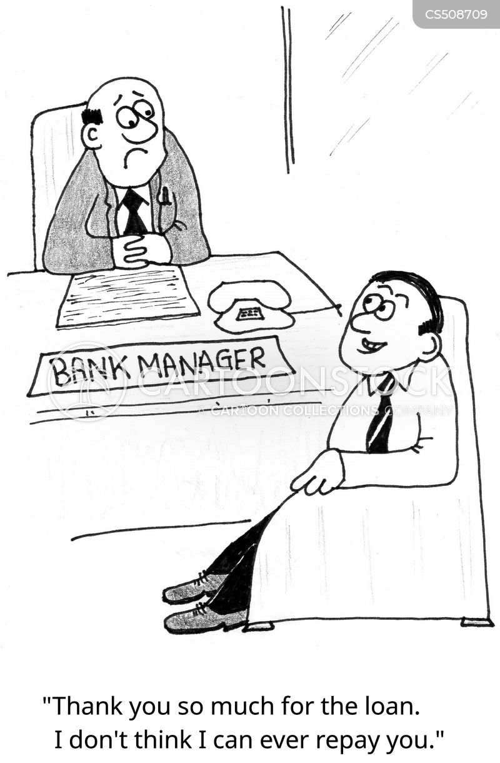 personal loan cartoon