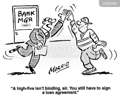 Mortgage Loan Cartoon Personal Loan Cartoon 5 of 15