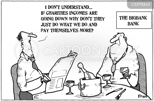 bank executives cartoon