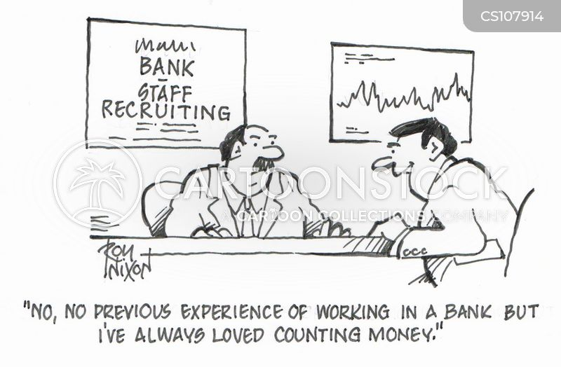 bank worker cartoon