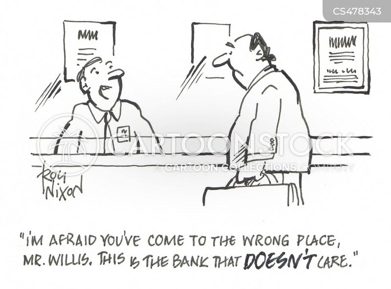 banking services cartoon