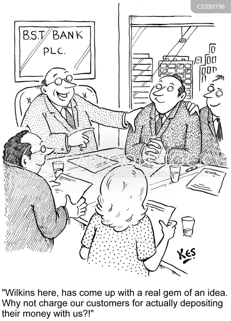 money deposits cartoon