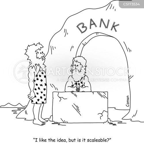 bank robberies cartoon
