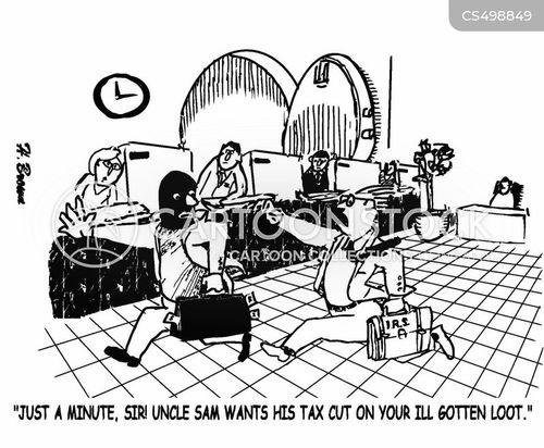 bank theft cartoon