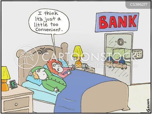 online banker cartoon