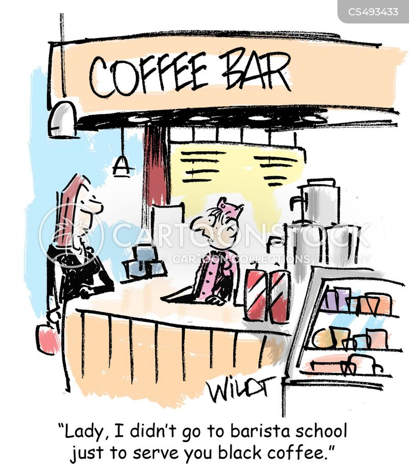 black coffees cartoon