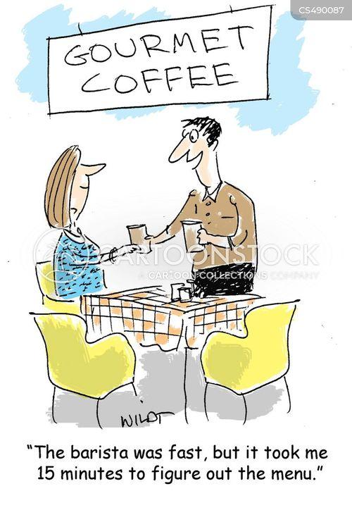 fancy coffee cartoon