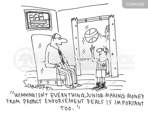 pro sports cartoon