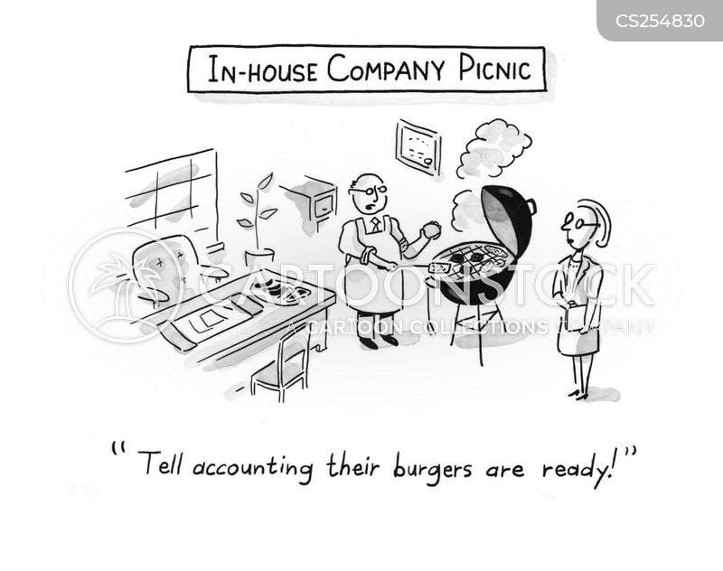 company picnics cartoon