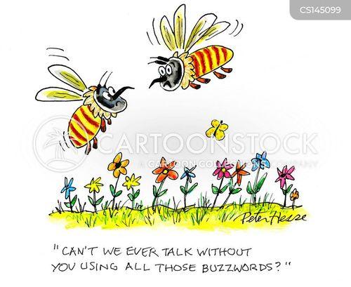 buzz words cartoons and comics