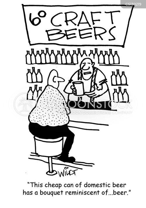 craft beer cartoon