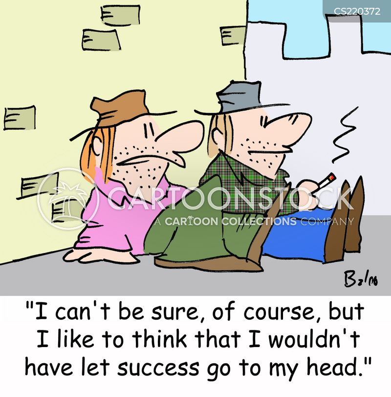 don t let success go to your head cartoons and comics funny