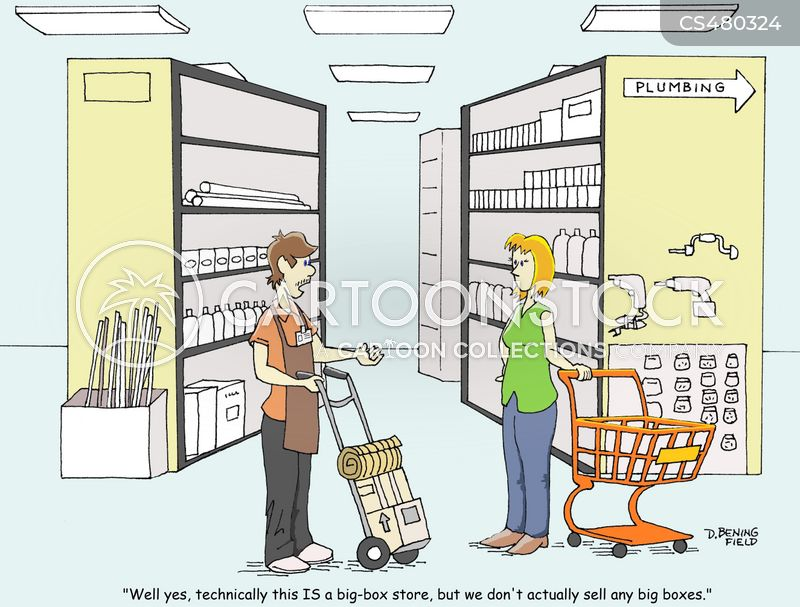 store inventory cartoon