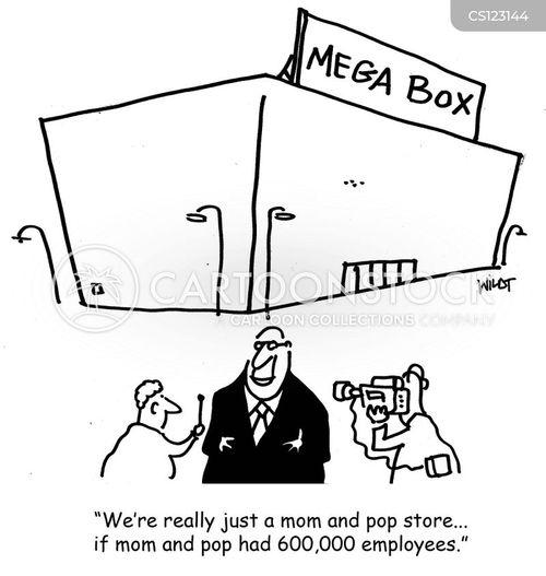 mom and pop stores cartoon
