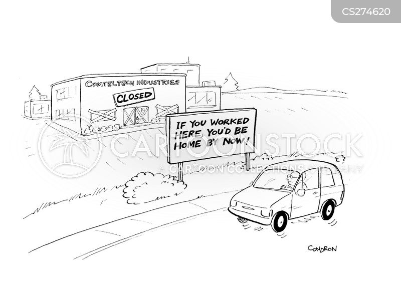 factory closures cartoon