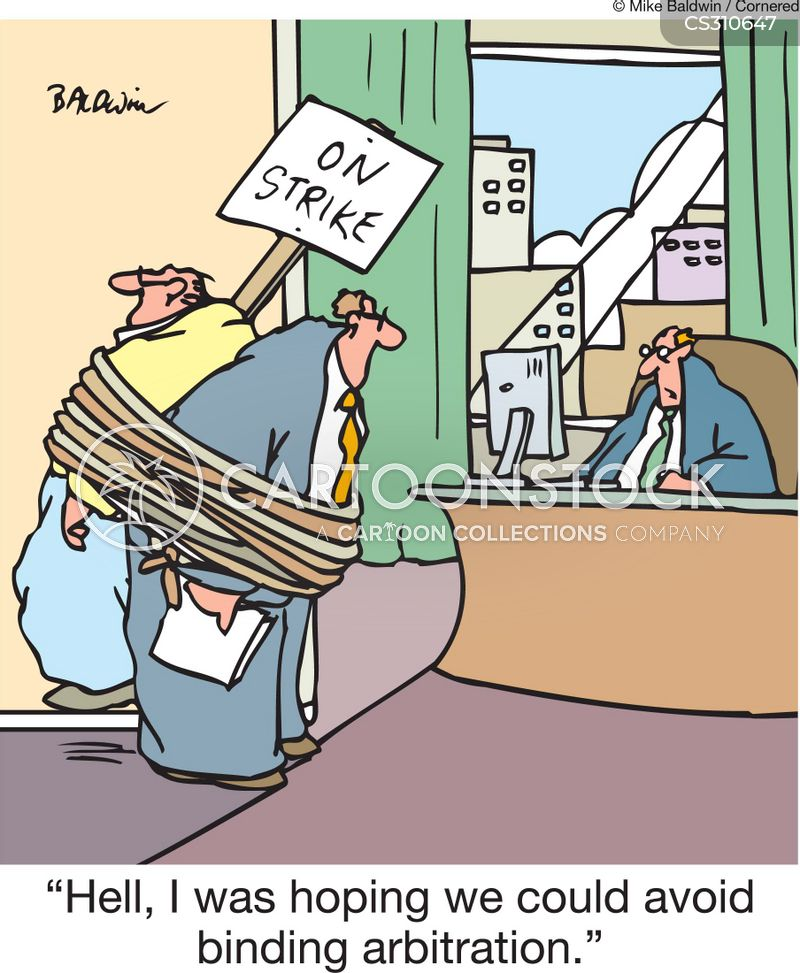 labor unrest cartoon