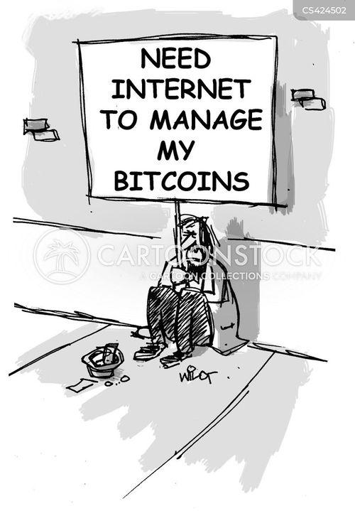 bitcoins cartoon