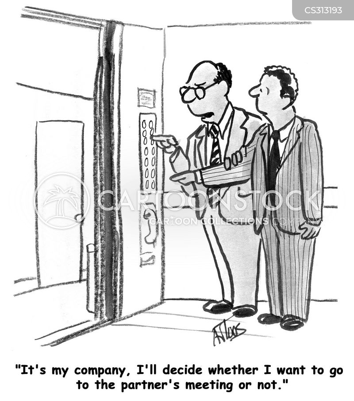 stock options cartoon