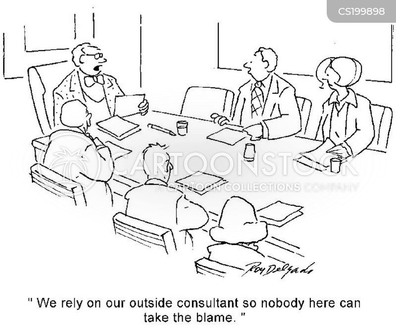 outside consultants cartoon