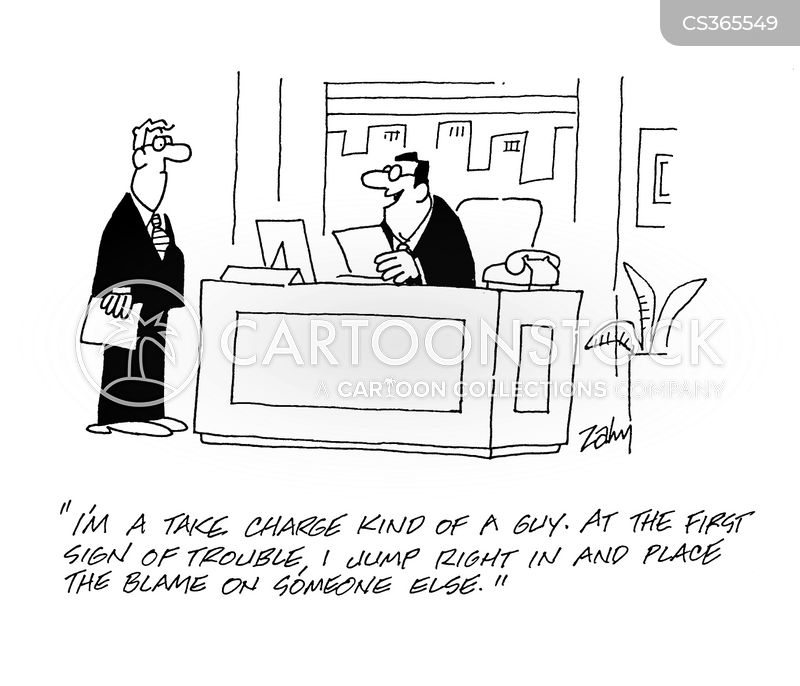 take charge cartoon