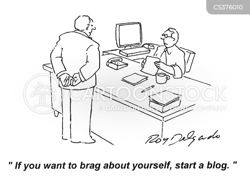bragger cartoon