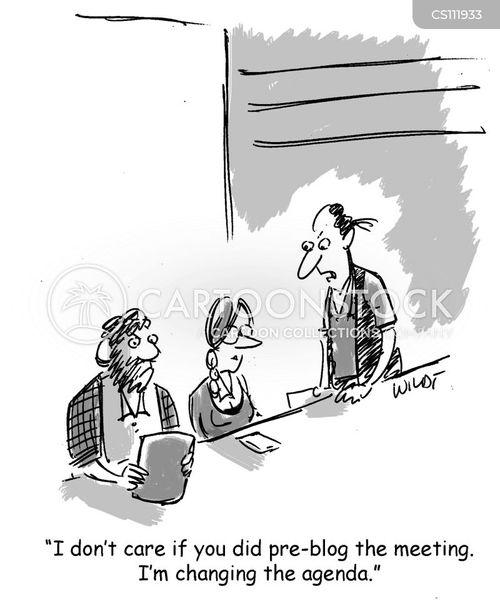 meeting agendas cartoon