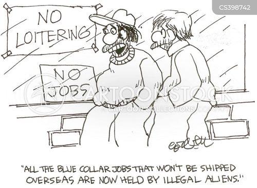 blue collar job cartoon
