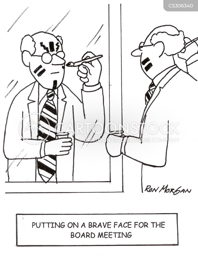 brave faces cartoon