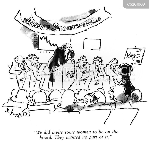 stockholder meeting cartoon