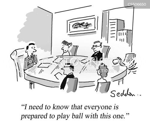 playing ball cartoon