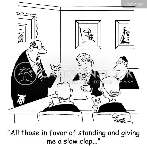 standing ovations cartoon