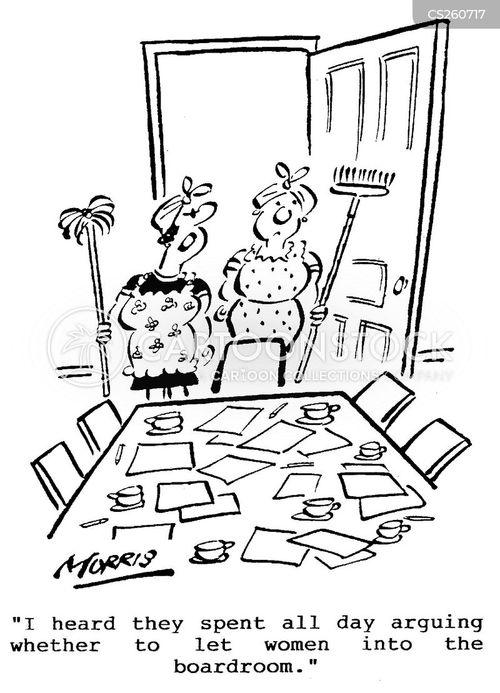 cleaning staff cartoon