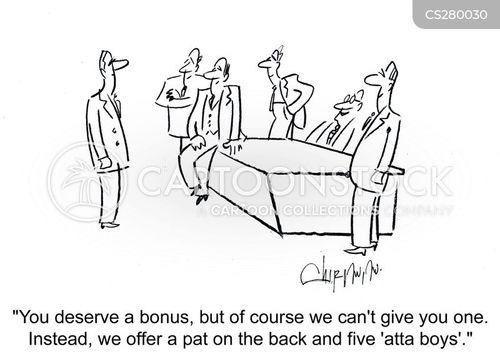 pat on the back cartoon