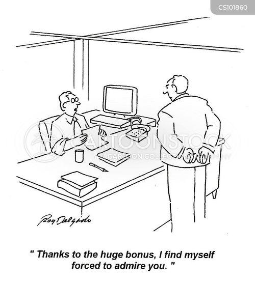 bonus pays cartoon
