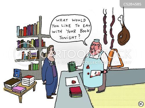 butcher store cartoon