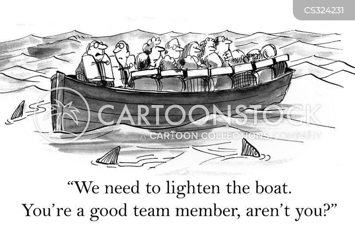 life boat cartoon
