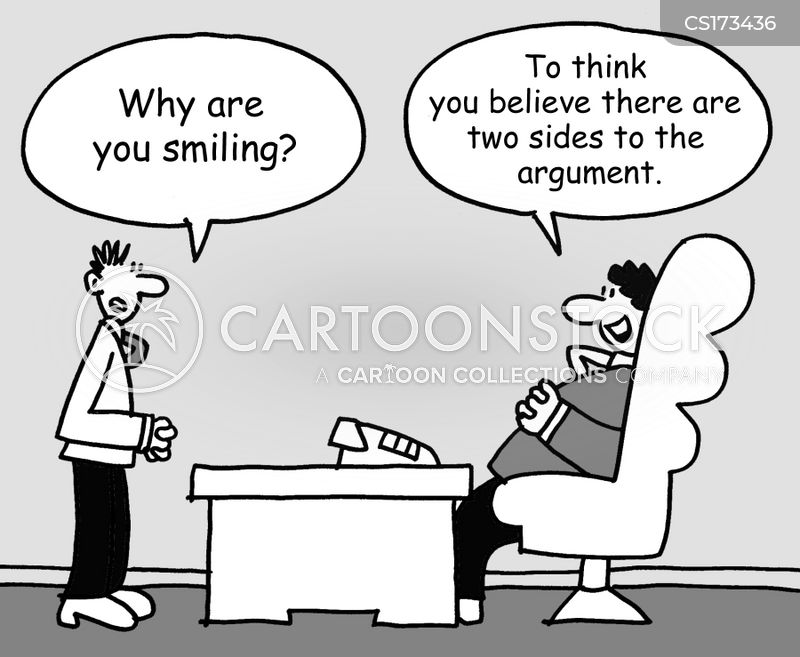 two sides cartoon