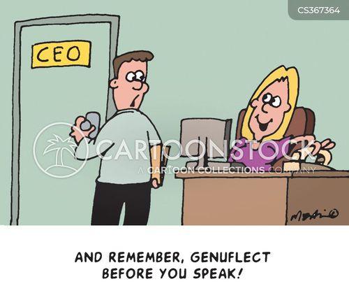 genuflected cartoon