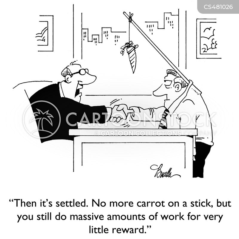 carrot on stick cartoon