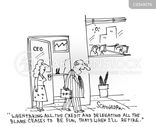 taking the credit cartoon