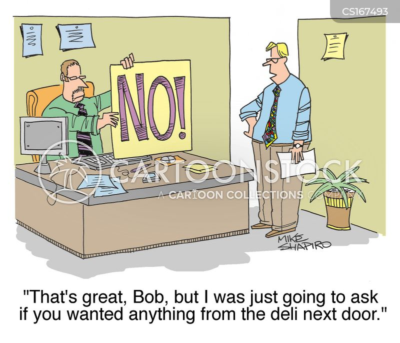 saying no cartoon