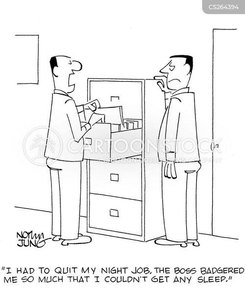 badgered cartoon