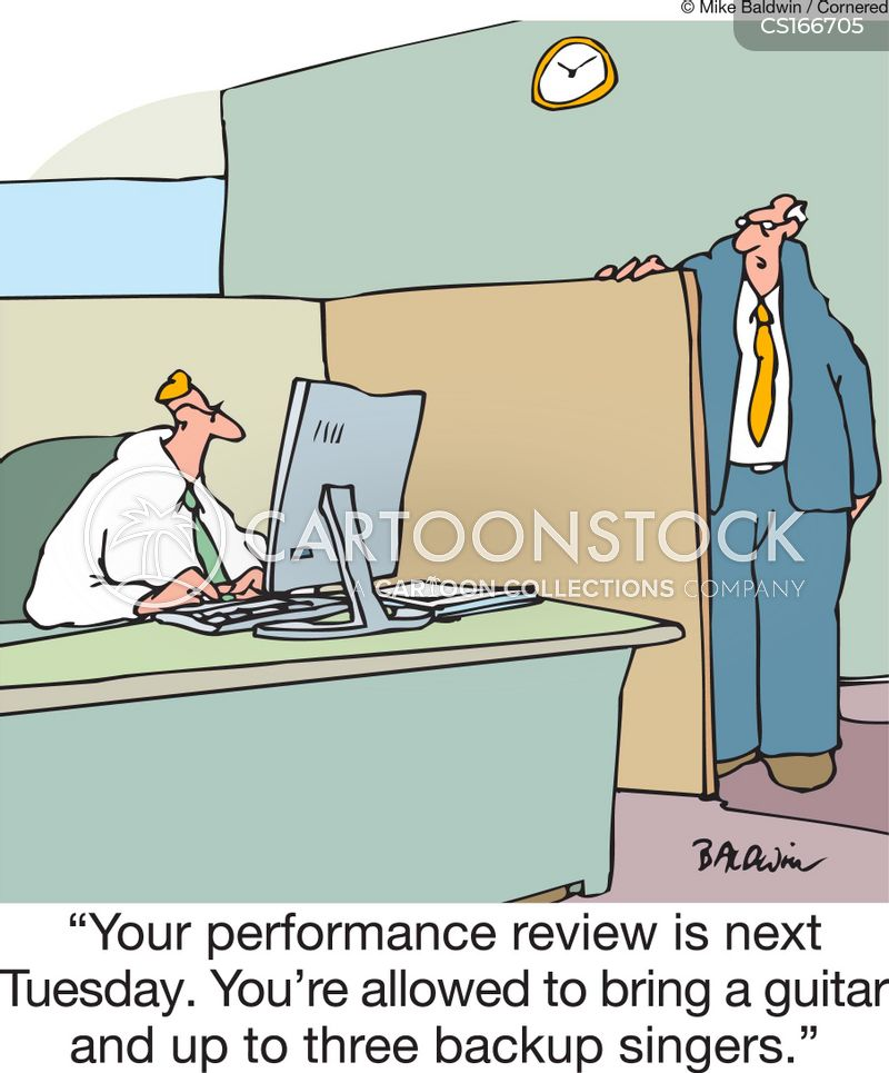 performance anxiety cartoon