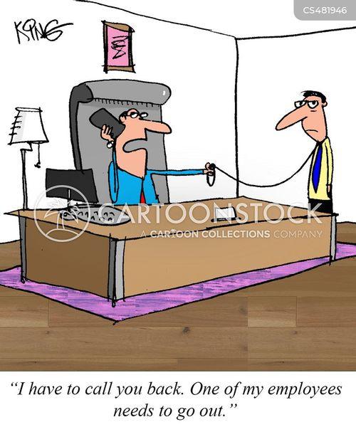 strict boss cartoon
