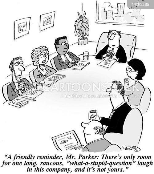leadership style cartoon