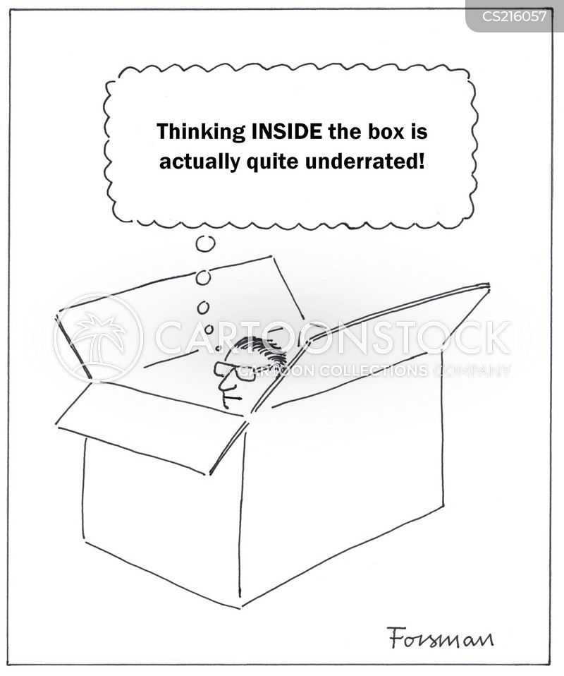 thinking inside the box cartoon